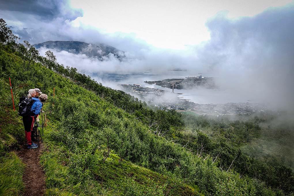 Mountain hiking to Storheia
